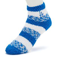 Women's For Bare Feet Los Angeles Dodgers Pro Stripe Sleep Socks