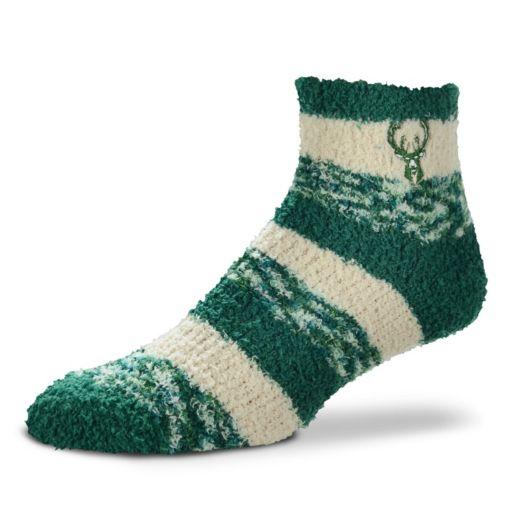 Women's For Bare Feet Milwaukee Bucks Pro Stripe Sleep Socks