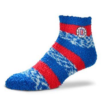 Women's For Bare Feet Los Angeles Clippers Pro Stripe Sleep Socks