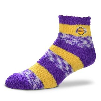 Women's For Bare Feet Los Angeles Lakers Pro Stripe Sleep Socks