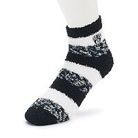 Women's For Bare Feet Brooklyn Nets Pro Stripe Sleep Socks