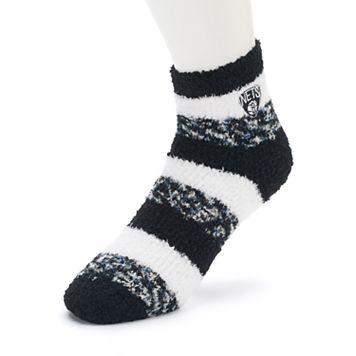 Women's For Bare Feet Brooklyn Nets Pro Stripe Sleep Socks