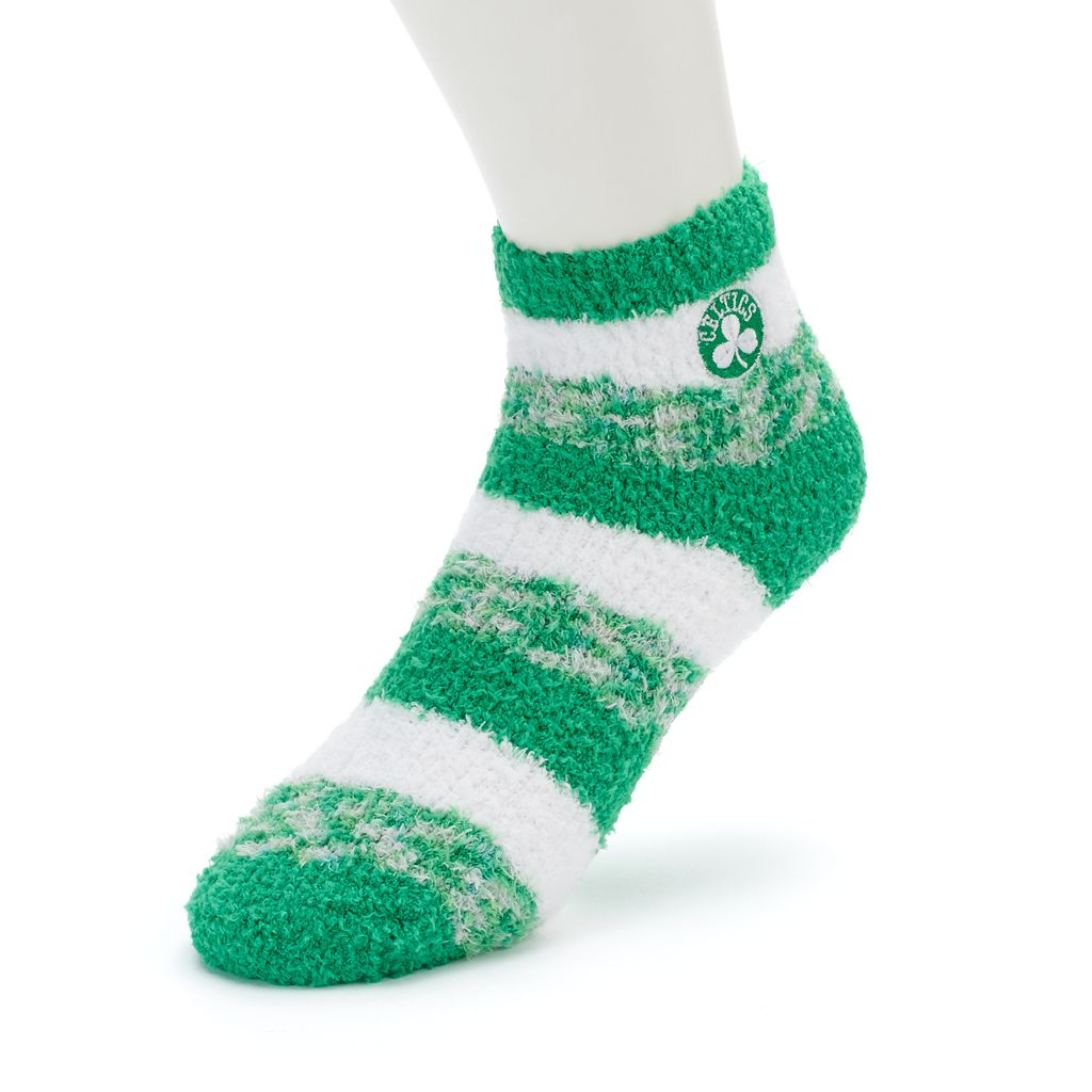 Women's For Bare Feet Boston Celtics Pro Stripe Sleep Socks