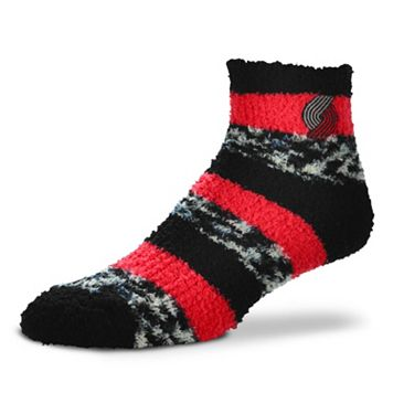 Women's For Bare Feet Portland Trail Blazers Pro Stripe Sleep Socks