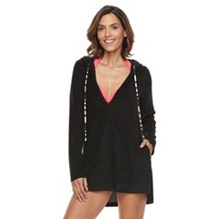 Women's Beach Scene French Terry Tunic Cover-Up