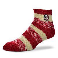 Women's For Bare Feet Florida State Seminoles Pro Stripe Sleep Socks