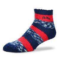 Women's For Bare Feet Ole Miss Rebels Pro Stripe Sleep Socks