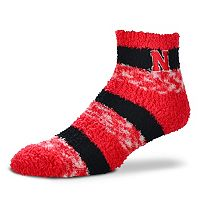 Women's For Bare Feet Nebraska Cornhuskers Pro Stripe Sleep Socks