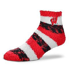 Women's For Bare Feet Wisconsin Badgers Pro Stripe Sleep Socks
