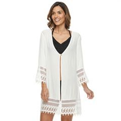 Women's Beach Scene Crochet Cover-up