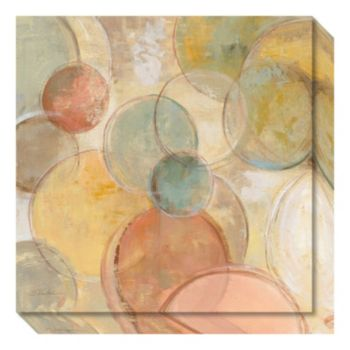 Fresco Bubbles Crop Canvas Wall Art