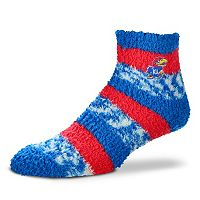 Women's For Bare Feet Kansas Jayhawks Pro Stripe Sleep Socks