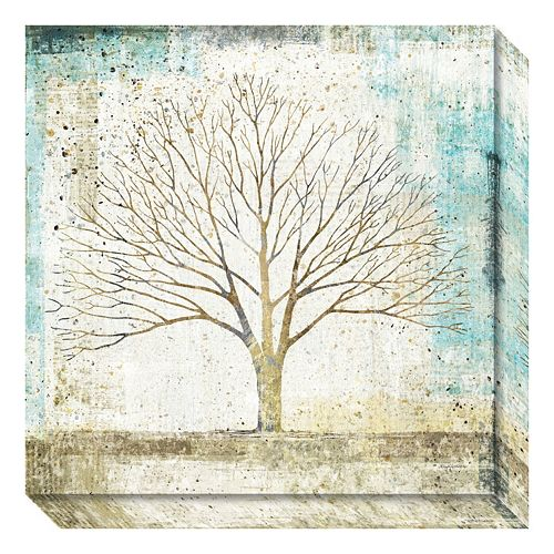 Solitary Tree Cottage Canvas Wall Art