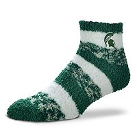 Women's For Bare Feet Michigan State Spartans Pro Stripe Sleep Socks