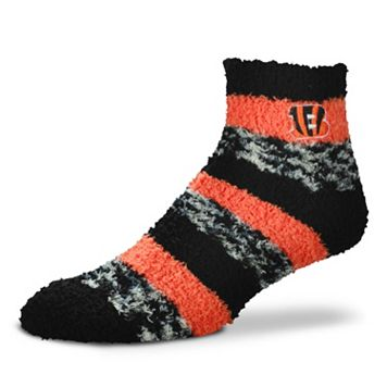 Women's For Bare Feet Cincinnati Bengals Pro Stripe Slipper Socks