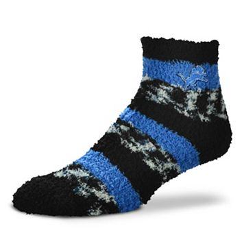 Women's For Bare Feet Detroit Lions Pro Stripe Slipper Socks