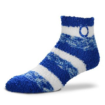 Women's For Bare Feet Indianapolis Colts Pro Stripe Slipper Socks