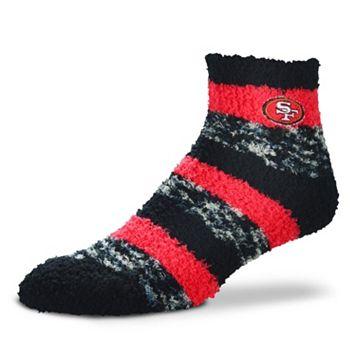 Women's For Bare Feet San Francisco 49ers Pro Stripe Slipper Socks