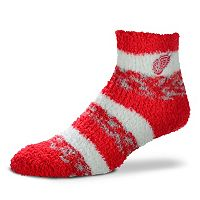 Women's For Bare Feet Detroit Red Wings Pro Stripe Slipper Socks