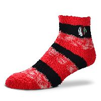 Women's For Bare Feet Chicago Blackhawks Pro Stripe Slipper Socks