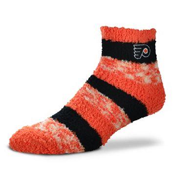 Women's For Bare Feet Philadelphia Flyers Pro Stripe Slipper Socks