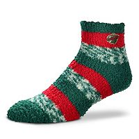 Women's For Bare Feet Minnesota Wild Pro Stripe Slipper Socks