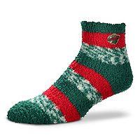 Women's For Bare Feet Minnesota Wild Pro Stripe Slipper Socks