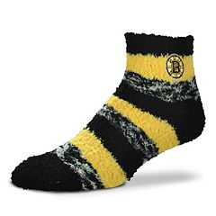 Women's For Bare Feet Boston Bruins Pro Stripe Slipper Socks