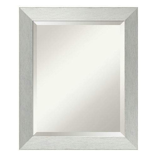 Amanti Art Sterling Silver Tone Medium Wall Mirror