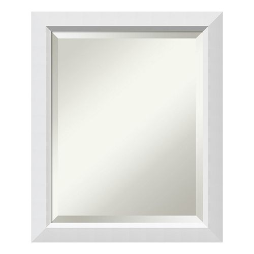 Amanti Art Blanco White Medium Wall Mirror