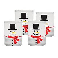 Culver Snowman 4-pc. Double Old Fashioned Glass Set