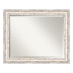 Amanti Art Alexandria Whitewash Large Wall Mirror