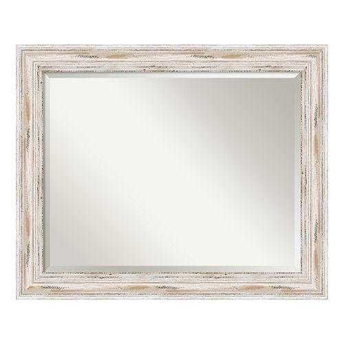 Amanti Art Alexandria Whitewash Large Wall Mirror