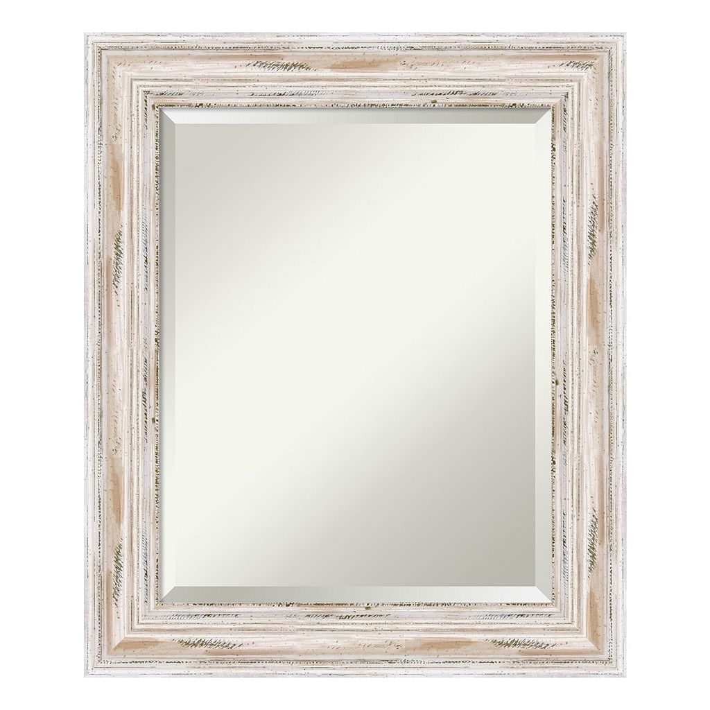 Amanti Art Alexandria Whitewash Medium Wall Mirror