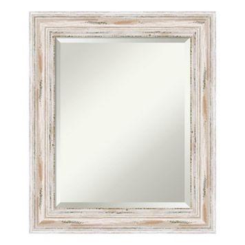 Amanti Art Alexandria Whitewash Medium Wall Mirror
