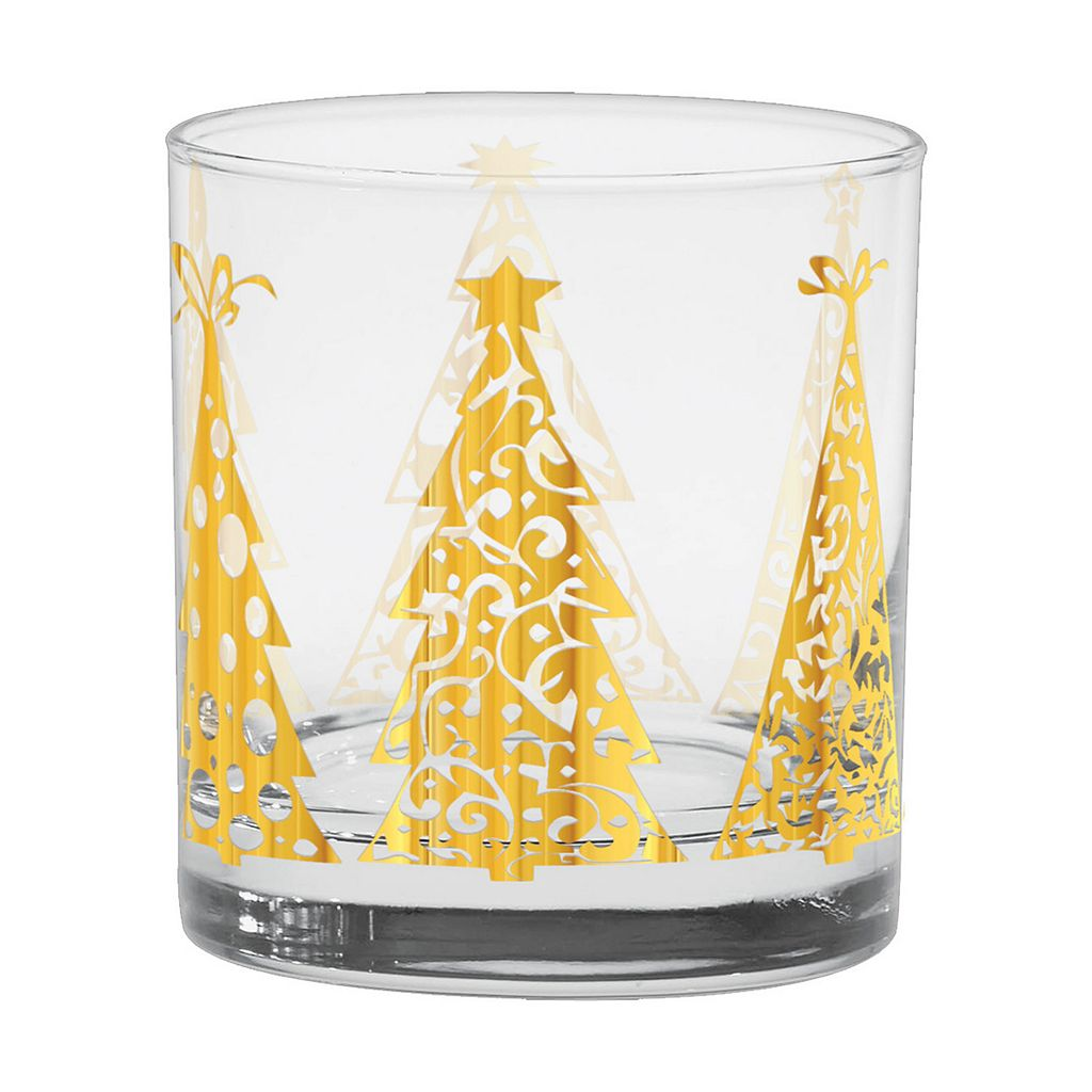 Culver Joyous Trees 4-pc. Double Old-Fashioned Glass Set