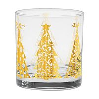 Culver Joyous Trees 4 pc Double Old-Fashioned Glass Set