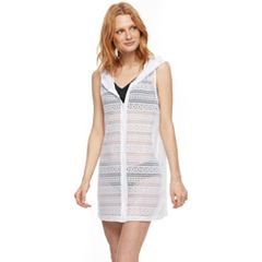 Women's Beach Scene Hooded Vest Cover-Up