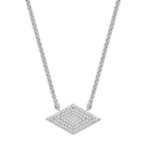 Sterling Silver 1/4 Carat T.W. Diamond Kite Necklace