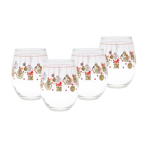 Culver Present Bulbs 4-pc. Stemless Wine Glass Set