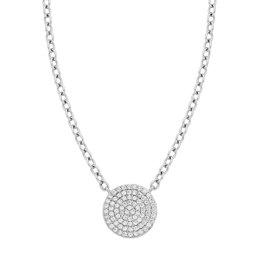 Sterling Silver 1/5 Carat T.W. Diamond Disc Necklace