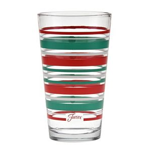 Fiesta Holiday Standard Stripe 4-pc. Pint Glass Set