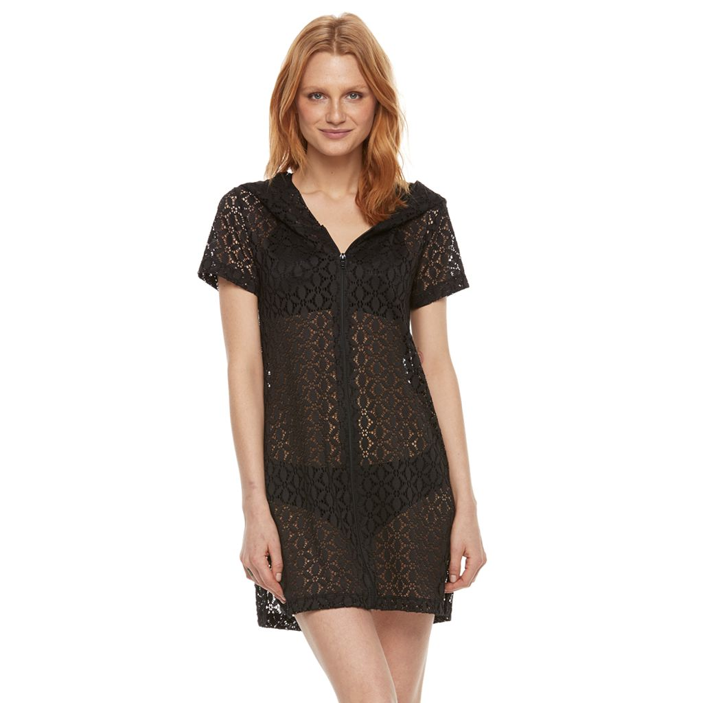 Women's Beach Scene Lace Cover-Up