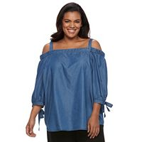 Plus Size Apt. 9® Cold-Shoulder Top