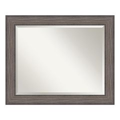 Amanti Art Country Barnwood Finish Large Wall Mirror