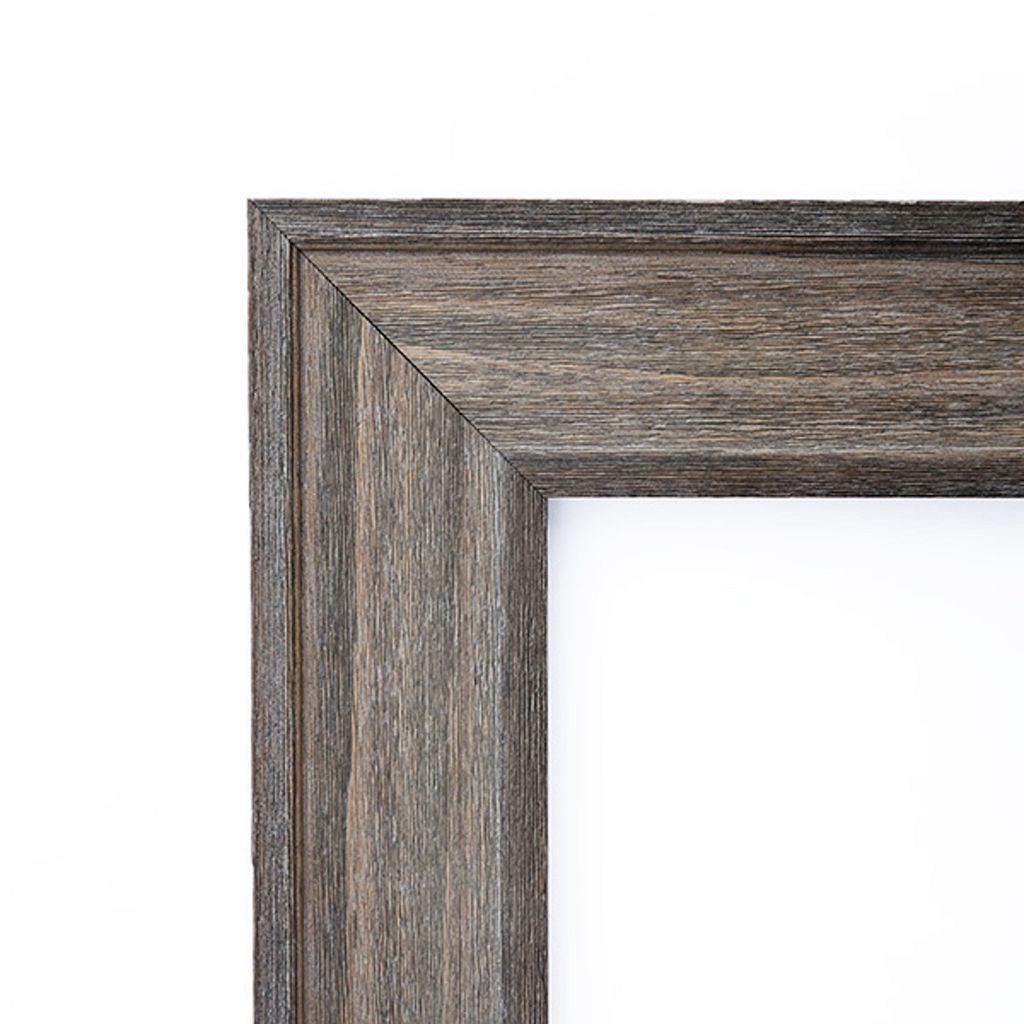 Amanti Art Country Barnwood Finish Large Wall Mirror