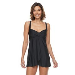 Women's Beach Scene Twist Swimdress
