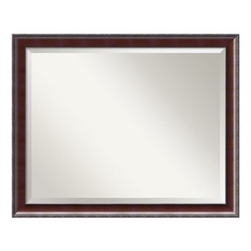 Amanti Art Country Walnut Finish Large Wall Mirror