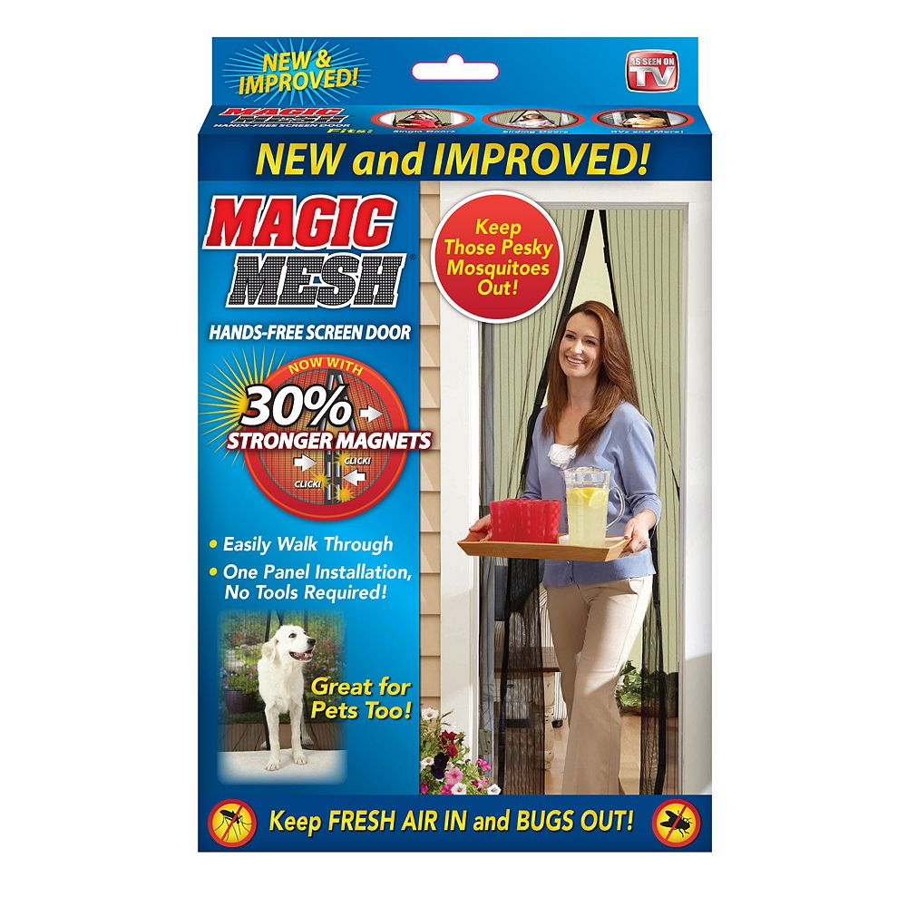 Magic Mesh Hands Free Screen Door As Seen On Tv