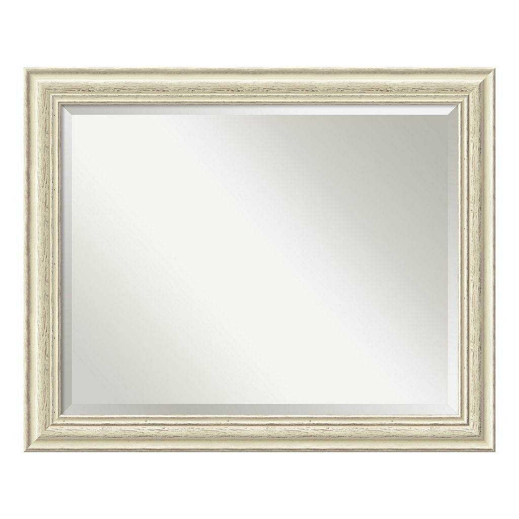 Amanti Art Country Whitewash Large Wall Mirror